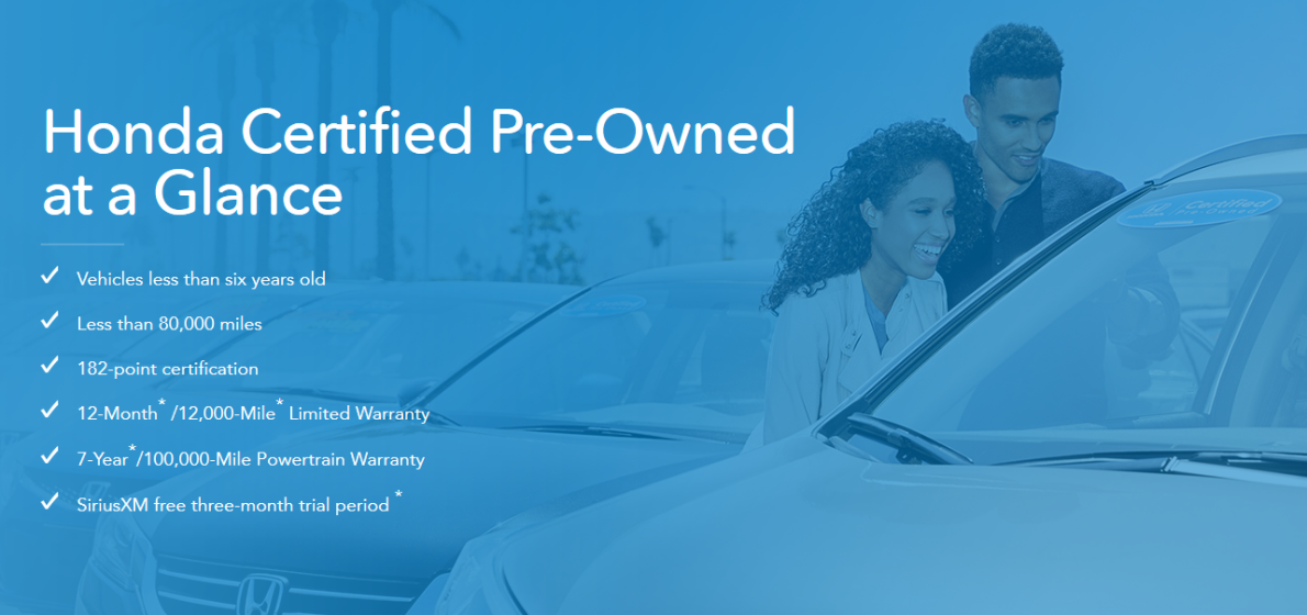 Honda certified at a glance